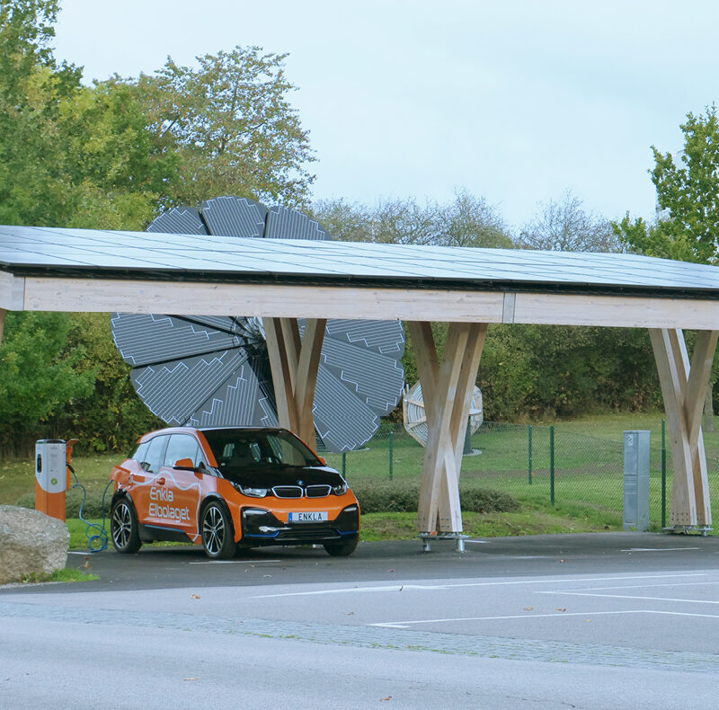 solar carport ev charging station